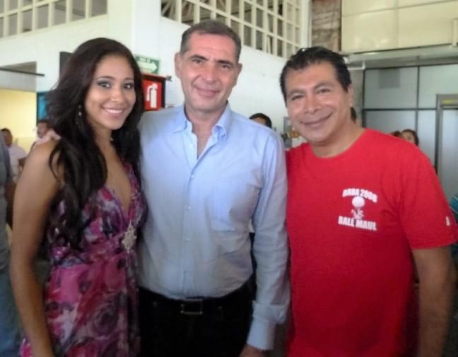 GABINO CUÉ, GOBERNADOR DEL ESTADO Y LUCIO GOPAR, JEFE REGIONAL DEL SNE COSTA.